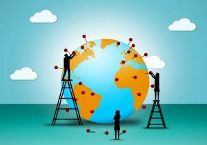 Placing pushpins on the Globe - Globalization and worldwide comm